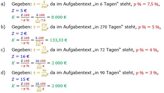 Zinsrechnung Kapital berechnen Lösungen zum Aufgabensatz 01 Blatt 2/3 Fortgeschritten Bild A2301L01/© by www.fit-in-mathe-online.de