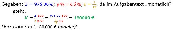 Zinsrechnung Kapital berechnen Lösungen zum Aufgabensatz 02 Blatt 2/3 Fortgeschritten Bild A2302L01/© by www.fit-in-mathe-online.de