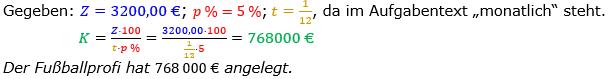 Zinsrechnung Kapital berechnen Lösungen zum Aufgabensatz 03 Blatt 2/3 Fortgeschritten Bild A2303L01/© by www.fit-in-mathe-online.de