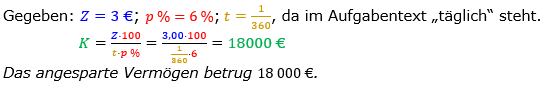 Zinsrechnung Kapital berechnen Lösungen zum Aufgabensatz 05 Blatt 2/3 Fortgeschritten Bild A2305L01/© by www.fit-in-mathe-online.de