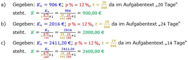 Zinsrechnung Kapital berechnen Lösungen zum Aufgabensatz 05 Blatt 3/1 Expert Bild A3105L01/© by www.fit-in-mathe-online.de
