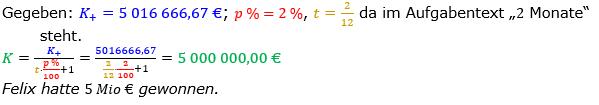 Zinsrechnung Kapital berechnen Lösungen zum Aufgabensatz 09 Blatt 3/1 Expert Bild A3109L01/© by www.fit-in-mathe-online.de