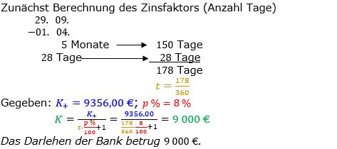 Zinsrechnung Kapital berechnen Lösungen zum Aufgabensatz 05 Blatt 3/2 Expert Bild A3205L01/© by www.fit-in-mathe-online.de