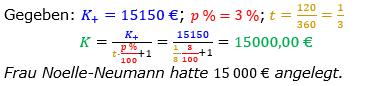 Zinsrechnung Kapital berechnen Lösungen zum Aufgabensatz 07 Blatt 3/2 Expert Bild A3207L01/© by www.fit-in-mathe-online.de