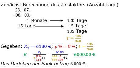Zinsrechnung Kapital berechnen Lösungen zum Aufgabensatz 09 Blatt 3/2 Expert Bild A3209L01/© by www.fit-in-mathe-online.de