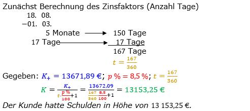 Zinsrechnung Kapital berechnen Lösungen zum Aufgabensatz 10 Blatt 3/2 Expert Bild A3210L01/© by www.fit-in-mathe-online.de