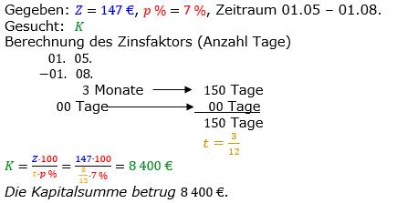 Zinsrechnung vermischte Aufgaben Lösungen zum Aufgabensatz 04 Blatt 01 Bild A0104L01/© by www.fit-in-mathe-online.de