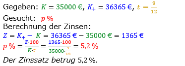 Zinsrechnung vermischte Aufgaben Lösungen zum Aufgabensatz 05 Blatt 01 Bild A0105L01/© by www.fit-in-mathe-online.de