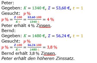 Zinsrechnung vermischte Aufgaben Lösungen zum Aufgabensatz 06 Blatt 01 Bild A0106L01/© by www.fit-in-mathe-online.de