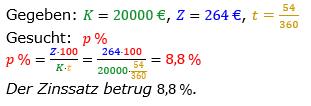 Zinsrechnung vermischte Aufgaben Lösungen zum Aufgabensatz 07 Blatt 01 Bild A0107L01/© by www.fit-in-mathe-online.de