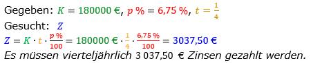 Zinsrechnung vermischte Aufgaben Lösungen zum Aufgabensatz 08 Blatt 01 Bild A0108L01/© by www.fit-in-mathe-online.de