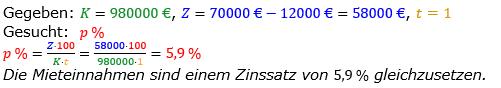 Zinsrechnung vermischte Aufgaben Lösungen zum Aufgabensatz 10 Blatt 01 Bild A0110L01/© by www.fit-in-mathe-online.de