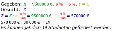 Zinsrechnung vermischte Aufgaben Lösungen zum Aufgabensatz 12 Blatt 01 Bild A0112L01/© by www.fit-in-mathe-online.de