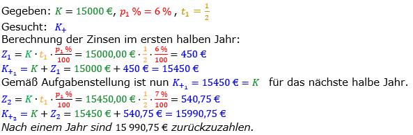 Zinsrechnung vermischte Aufgaben Lösungen zum Aufgabensatz 02 Blatt 02 Bild A0202L01/© by www.fit-in-mathe-online.de