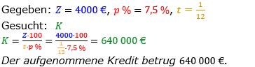 Zinsrechnung vermischte Aufgaben Lösungen zum Aufgabensatz 04 Blatt 02 Bild A0204L01/© by www.fit-in-mathe-online.de