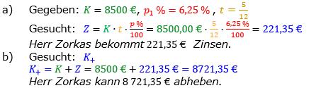 Zinsrechnung vermischte Aufgaben Lösungen zum Aufgabensatz 05 Blatt 02 Bild A0205L01/© by www.fit-in-mathe-online.de