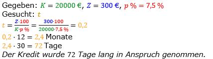Zinsrechnung vermischte Aufgaben Lösungen zum Aufgabensatz 06 Blatt 02 Bild A0206L01/© by www.fit-in-mathe-online.de