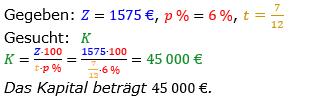 Zinsrechnung vermischte Aufgaben Lösungen zum Aufgabensatz 07 Blatt 02 Bild A0207L01/© by www.fit-in-mathe-online.de