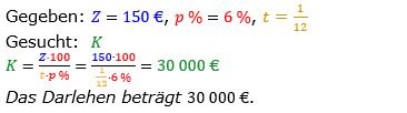 Zinsrechnung vermischte Aufgaben Lösungen zum Aufgabensatz 08 Blatt 02 Bild A0208L01/© by www.fit-in-mathe-online.de