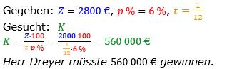 Zinsrechnung vermischte Aufgaben Lösungen zum Aufgabensatz 05 Blatt 03 Bild A0305L01/© by www.fit-in-mathe-online.de