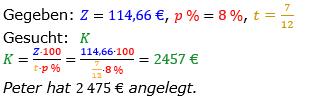 Zinsrechnung vermischte Aufgaben Lösungen zum Aufgabensatz 08 Blatt 03 Bild A0308L01/© by www.fit-in-mathe-online.de
