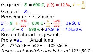 Zinsrechnung vermischte Aufgaben Lösungen zum Aufgabensatz 09 Blatt 03 Bild A0309L01/© by www.fit-in-mathe-online.de