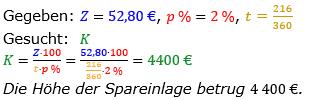 Zinsrechnung vermischte Aufgaben Lösungen zum Aufgabensatz 10 Blatt 03 Bild A0310L01/© by www.fit-in-mathe-online.de