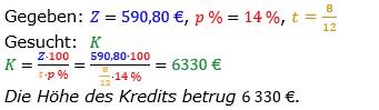 Zinsrechnung vermischte Aufgaben Lösungen zum Aufgabensatz 11 Blatt 03 Bild A0311L01/© by www.fit-in-mathe-online.de