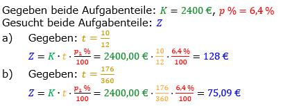 Zinsrechnung vermischte Aufgaben Lösungen zum Aufgabensatz 13 Blatt 03 Bild A0313L01/© by www.fit-in-mathe-online.de