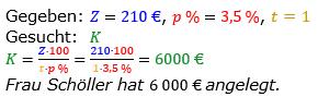 Zinsrechnung vermischte Aufgaben Lösungen zum Aufgabensatz 16 Blatt 03 Bild A0316L01/© by www.fit-in-mathe-online.de