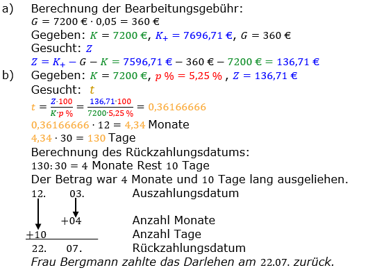 Zinsrechnung vermischte Aufgaben Lösungen zum Aufgabensatz 04 Blatt 04 Bild A0404L01/© by www.fit-in-mathe-online.de