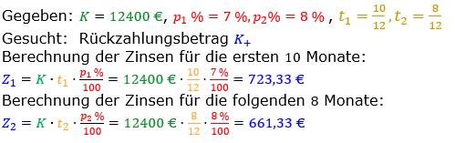 Zinsrechnung vermischte Aufgaben Lösungen zum Aufgabensatz 05 Blatt 04 Bild A0405L01/© by www.fit-in-mathe-online.de