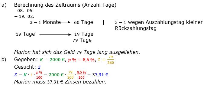 Zinsrechnung vermischte Aufgaben Lösungen zum Aufgabensatz 11 Blatt 04 Bild A0411L01/© by www.fit-in-mathe-online.de
