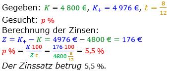 Zinsrechnung vermischte Aufgaben Lösungen zum Aufgabensatz 16 Blatt 04 Bild A0416L01/© by www.fit-in-mathe-online.de