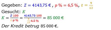 Zinsrechnung vermischte Aufgaben Lösungen zum Aufgabensatz 02 Blatt 05 Bild A0502L01/© by www.fit-in-mathe-online.de