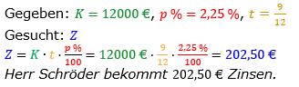 Zinsrechnung vermischte Aufgaben Lösungen zum Aufgabensatz 03 Blatt 05 Bild A0503L01/© by www.fit-in-mathe-online.de