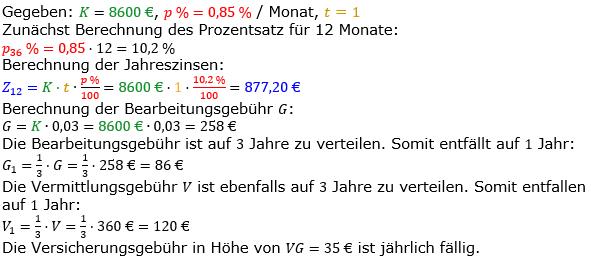 Zinsrechnung vermischte Aufgaben Lösungen zum Aufgabensatz 04 Blatt 05 Bild A0504L01/© by www.fit-in-mathe-online.de