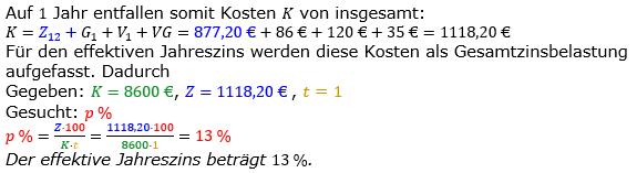 Zinsrechnung vermischte Aufgaben Lösungen zum Aufgabensatz 04 Blatt 05 Bild A0504L02/© by www.fit-in-mathe-online.de