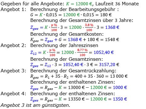 Zinsrechnung vermischte Aufgaben Lösungen zum Aufgabensatz 05 Blatt 05 Bild A0505L01/© by www.fit-in-mathe-online.de