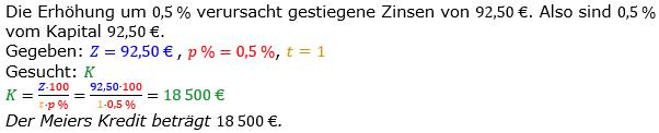 Zinsrechnung vermischte Aufgaben Lösungen zum Aufgabensatz 06 Blatt 05 Bild A0506L01/© by www.fit-in-mathe-online.de
