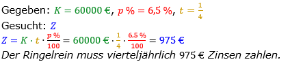 Zinsrechnung vermischte Aufgaben Lösungen zum Aufgabensatz 07 Blatt 05 Bild A0507L01/© by www.fit-in-mathe-online.de