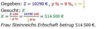 Zinsrechnung vermischte Aufgaben Lösungen zum Aufgabensatz 08 Blatt 05 Bild A0508L01/© by www.fit-in-mathe-online.de