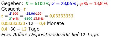 Zinsrechnung vermischte Aufgaben Lösungen zum Aufgabensatz 09 Blatt 05 Bild A0509L01/© by www.fit-in-mathe-online.de