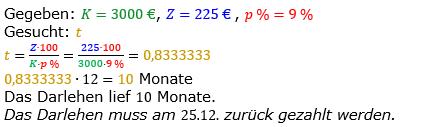 Zinsrechnung vermischte Aufgaben Lösungen zum Aufgabensatz 12 Blatt 05 Bild A0512L01/© by www.fit-in-mathe-online.de