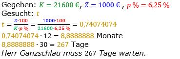 Zinsrechnung vermischte Aufgaben Lösungen zum Aufgabensatz 13 Blatt 05 Bild A0513L01/© by www.fit-in-mathe-online.de