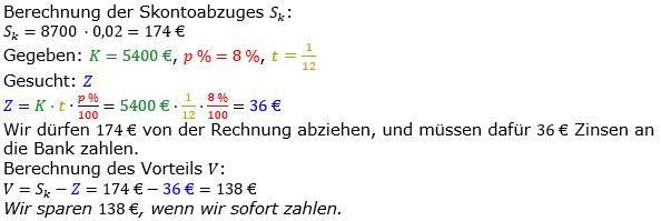 Zinsrechnung vermischte Aufgaben Lösungen zum Aufgabensatz 14 Blatt 05 Bild A0514L01/© by www.fit-in-mathe-online.de