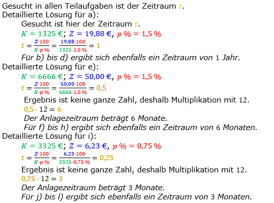 Zinsrechnung Zeitraum berechnen Lösungen zum Aufgabensatz 01 Blatt 1/1 Grundlagen Bild A1101L01/© by www.fit-in-mathe-online.de