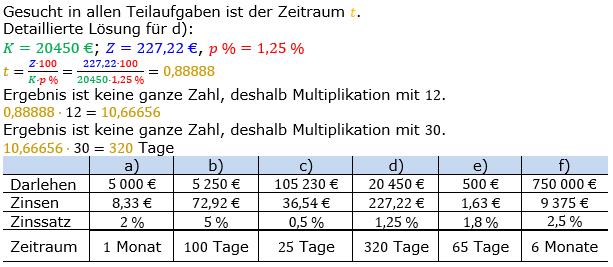 Zinsrechnung Zeitraum berechnen Lösungen zum Aufgabensatz 03 Blatt 1/1 Grundlagen Bild A1103L01/© by www.fit-in-mathe-online.de