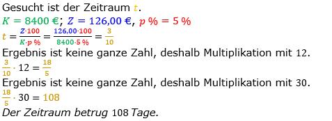 Zinsrechnung Zeitraum berechnen Lösungen zum Aufgabensatz 05 Blatt 1/1 Grundlagen Bild A1105L01/© by www.fit-in-mathe-online.de