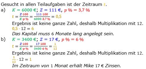 Zinsrechnung Zeitraum berechnen Lösungen zum Aufgabensatz 03 Blatt 1/2 Grundlagen Bild A1203L01/© by www.fit-in-mathe-online.de